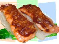 赤味噌サーモン炙り